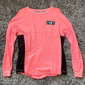 OVERSIZED CORAL/PINK LONG SLEEVE TEE